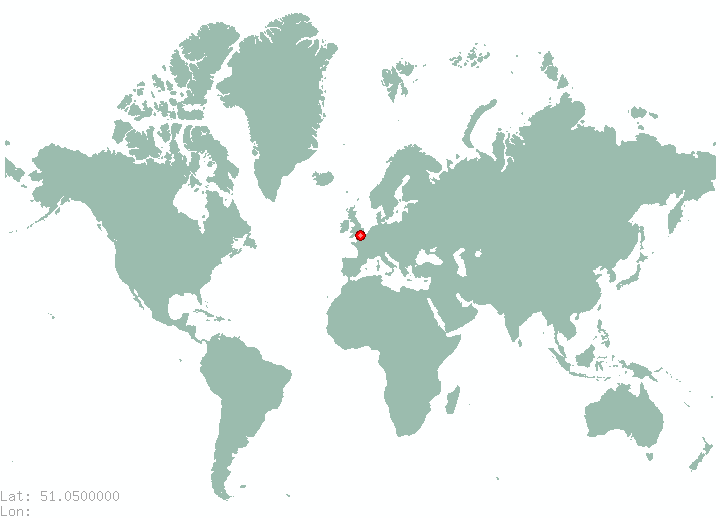 Gent in world map
